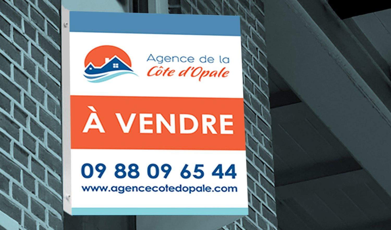 StudioDel Portfolio Agence Côte d'Opale Panneau à vendre
