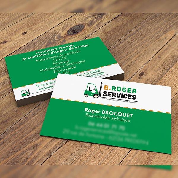 StudioDel Portfolio B.Roger Services Logo Carte de visite Flyers Site web