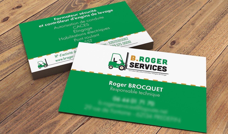 StudioDel Portfolio B.Roger Services Cartes de visite