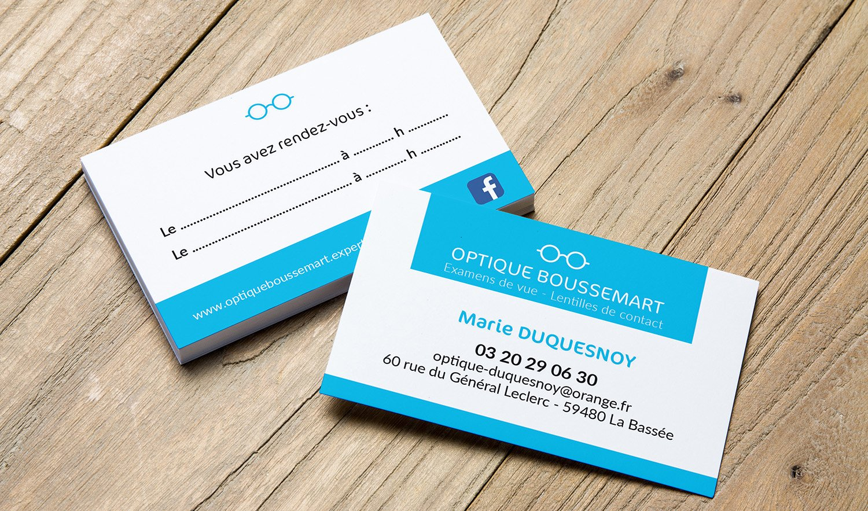 StudioDel Portfolio Optique Boussemart Carte de visite