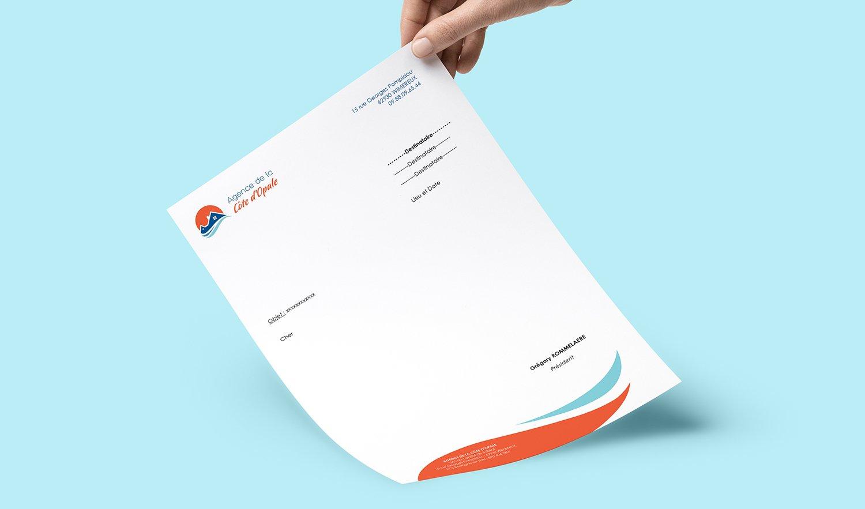 StudioDel Portfolio Agence Côte d'Opale Papier en tête