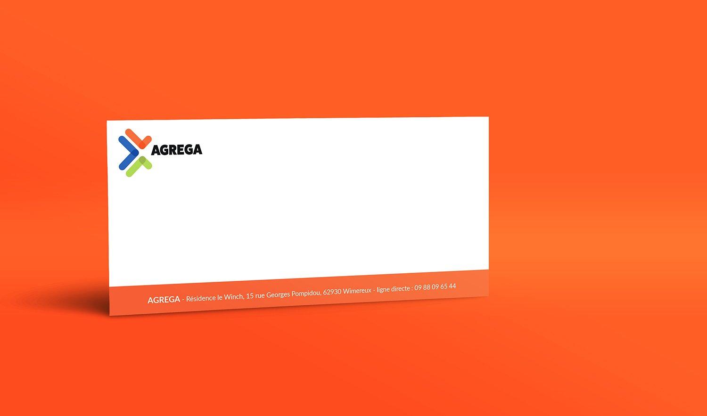 StudioDel Portfolio Agrega Charte graphique Cartons de correspondance