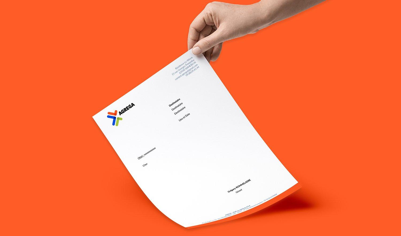 StudioDel Portfolio Agrega Charte graphique En-tête courrier