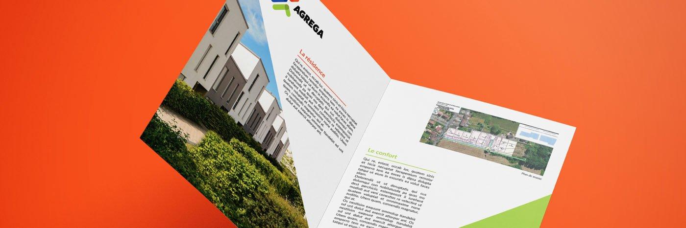 StudioDel Portfolio Agrega Charte graphique Plaquette commerciale