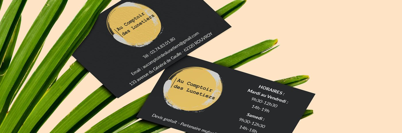 StudioDel Portfolio Au Comptoir des Lunetiers Cartes de visite
