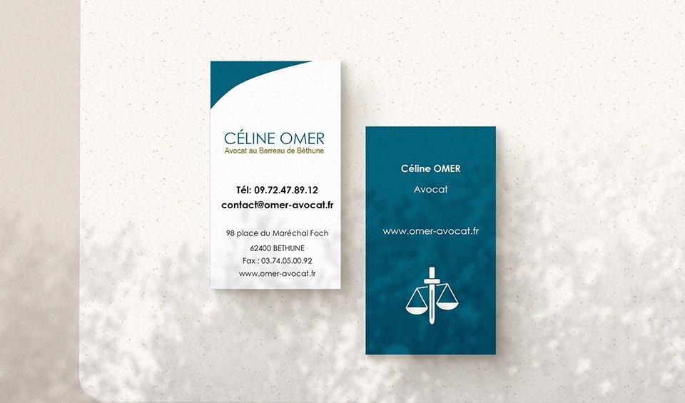 StudioDel Portfolio Avocat Céline Omer Cartes de visite