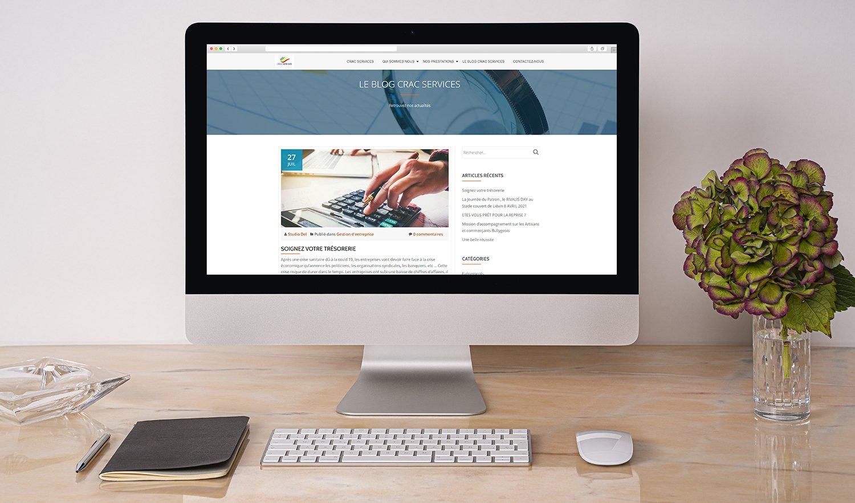 StudioDel Portfolio CRAC Services Site web Blog Actualités