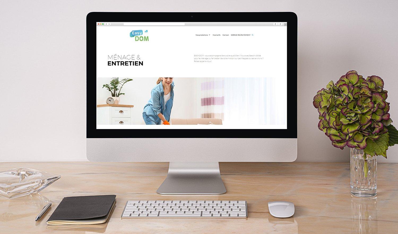 StudioDel Portfolio EASY-DOM Site web Ménage & Entretien