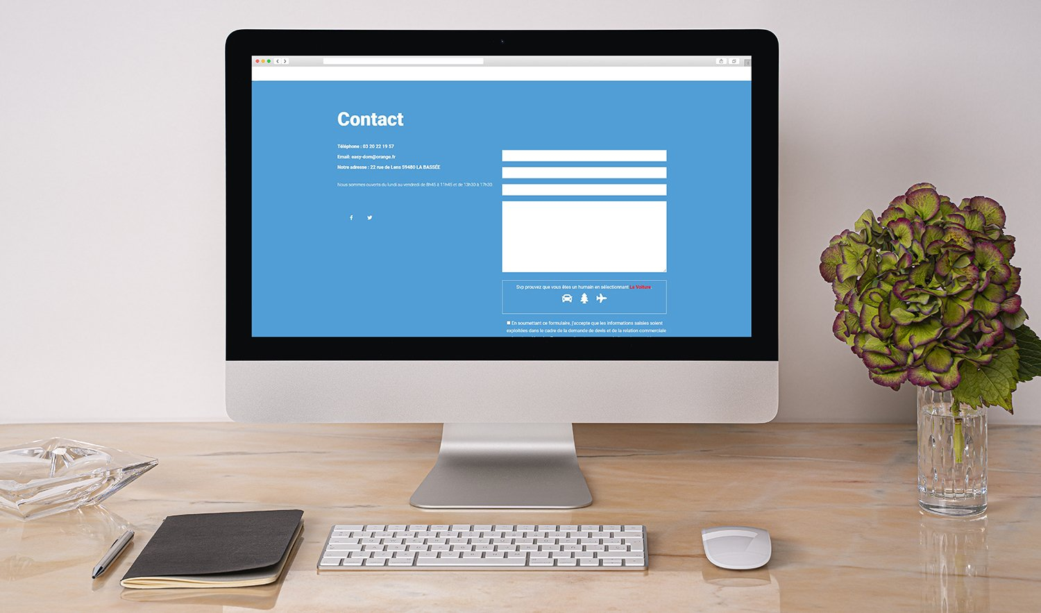 StudioDel Portfolio EASY-DOM Site web Contact