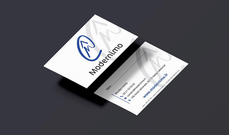 StudioDel Portfolio Modernimo Cartes de visite