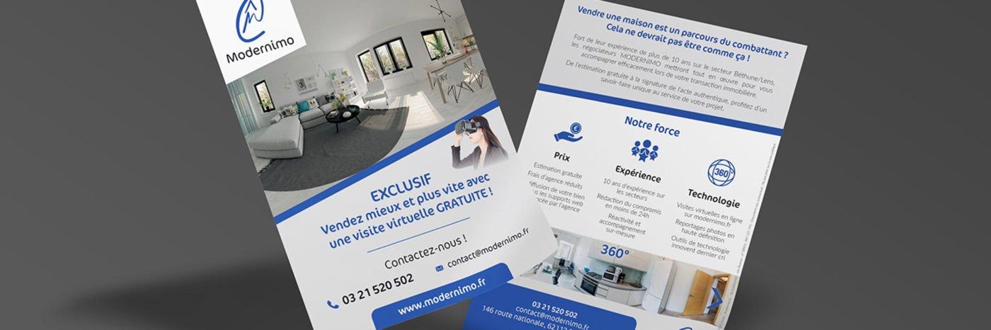 StudioDel Portfolio Modernimo Panneau à vendre immobilier