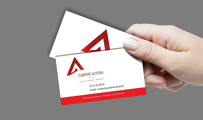 StudioDel Portfolio Cabinet Altura Cartes de visite