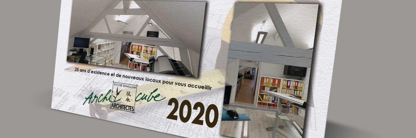 StudioDel Portfolio Archi-Cube Carte de vœux