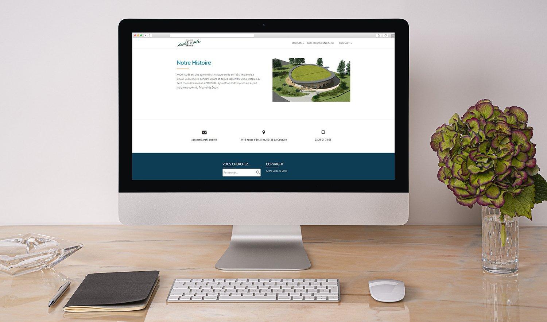 StudioDel Portfolio Archi-Cube Site internet Accueil Agence