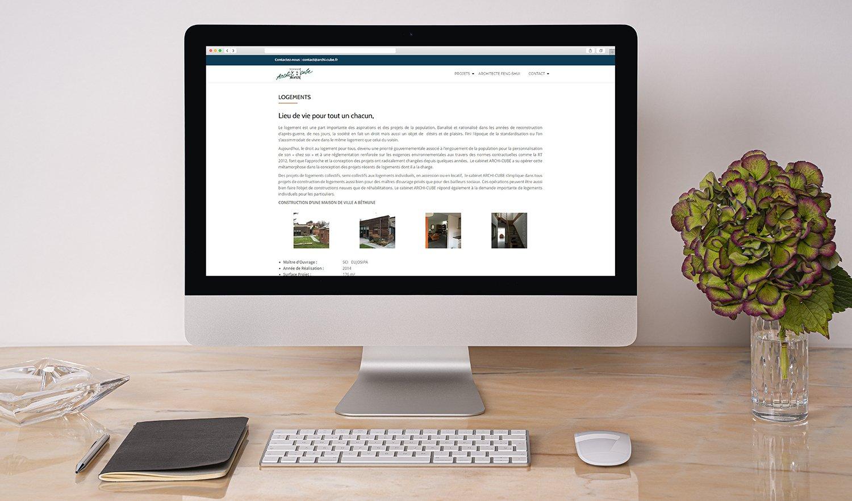 StudioDel Portfolio Archi-Cube Site internet Logements